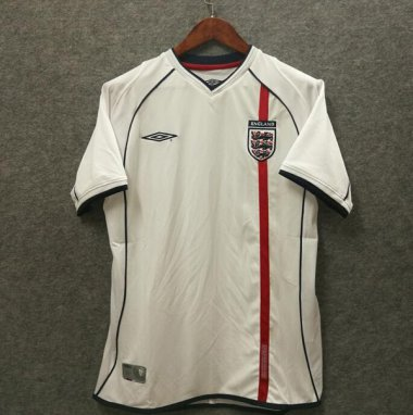 *2002 England Home Soccer jersey