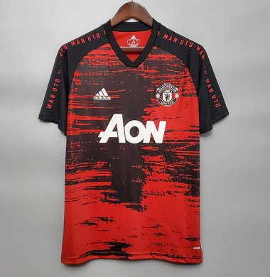 *2020 Manchester United red and black training shirt