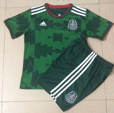#2122 Mexico green kids soccer jersey