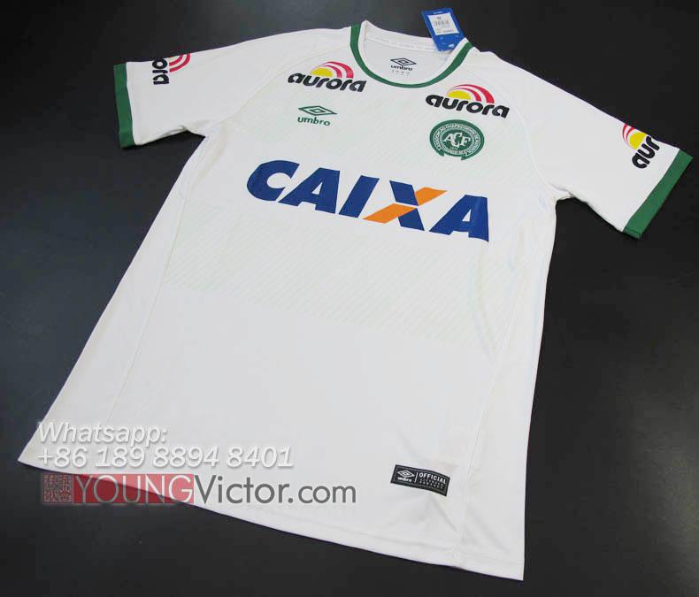 Chapecoense de Futebol 16 17 2nd 3rd Away Third white Soccer jersey ... 69fe86aa2