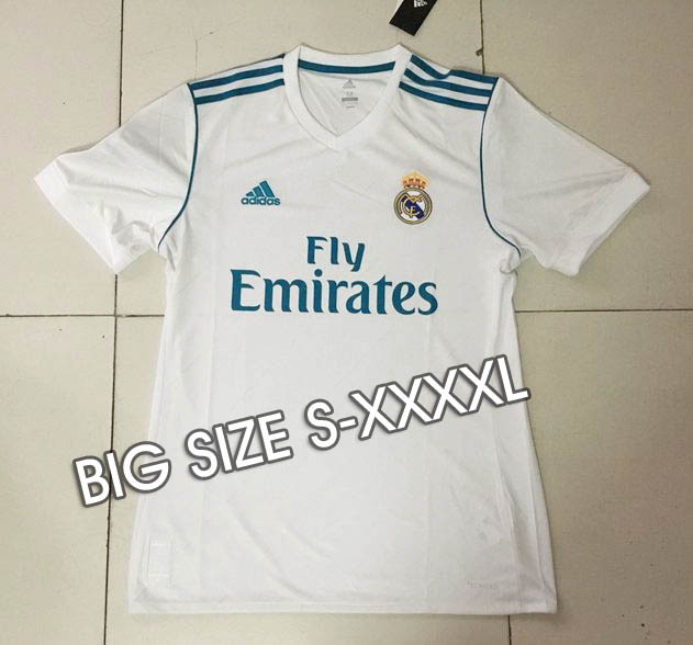 dcd793e3b Real Madrid 17 18 Home Big SIZE S-XXXXL Soccer jersey -  17.00 ...