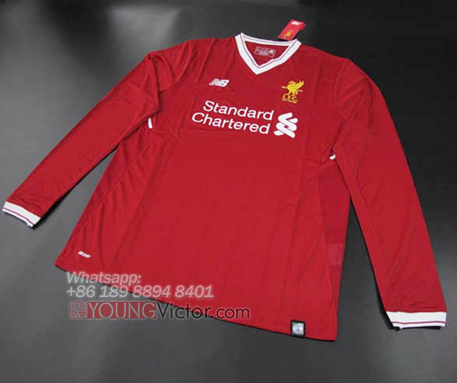 629d3e50e 2017 Liverpool 17 18 Home long sleeve Soccer jersey -  19.00 ...