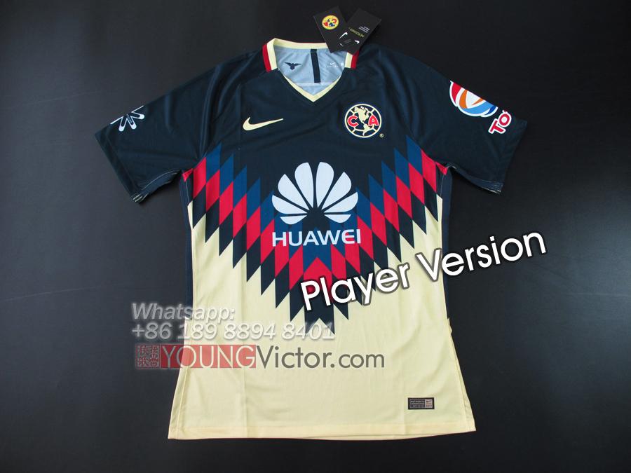 timeless design c2261 a4d15 2017 Mexico Club America 17 18 Home Player version Soccer ...
