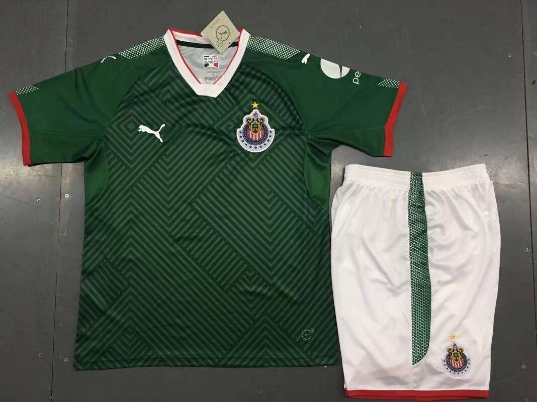7a57e04e5 2017 Chivas 17 18 Away Third Green Kids Soccer jersey -  15.00 ...