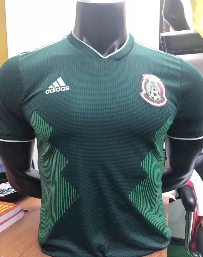 0925441e4 2018 World Cup Mexico 17 18 Home Player version Soccer jersey ...