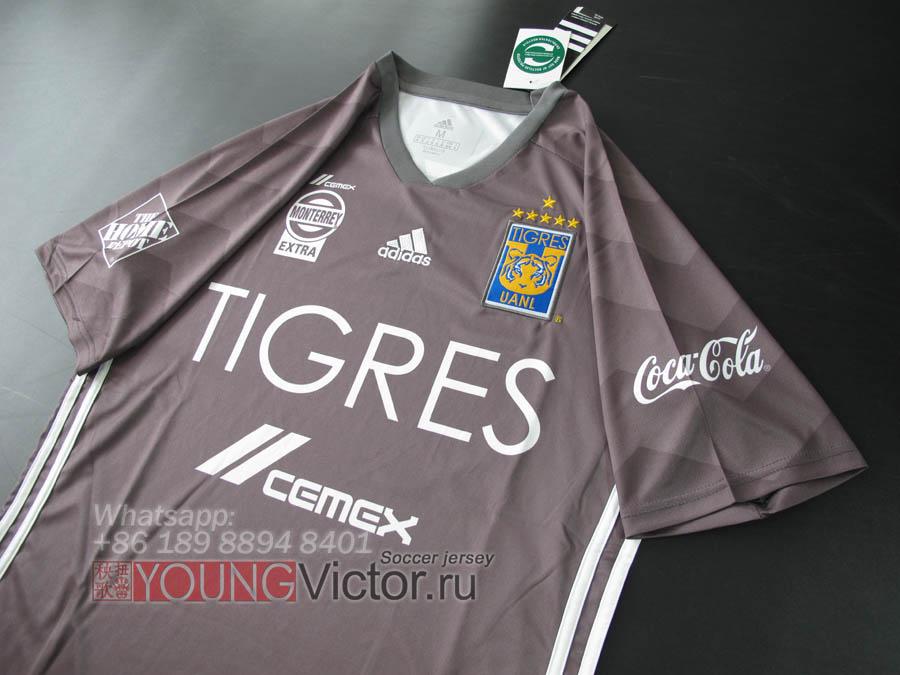 44cccf7c2ee 2018 Mexico Tigres UANL 18 19 Away Third grey Soccer jersey - $17.00 ...