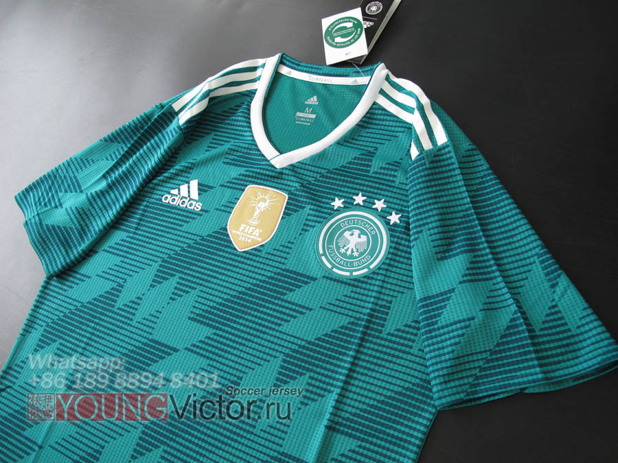 2018 World Cup Germany 18 19 Away Player version Soccer jersey ... fc29ac59d
