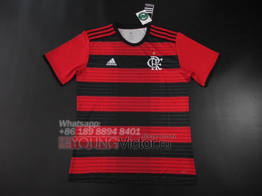 18 19 CR Flamengo 2018 Home Soccer jersey Football shirt -  17.00 ... 45dbd2839
