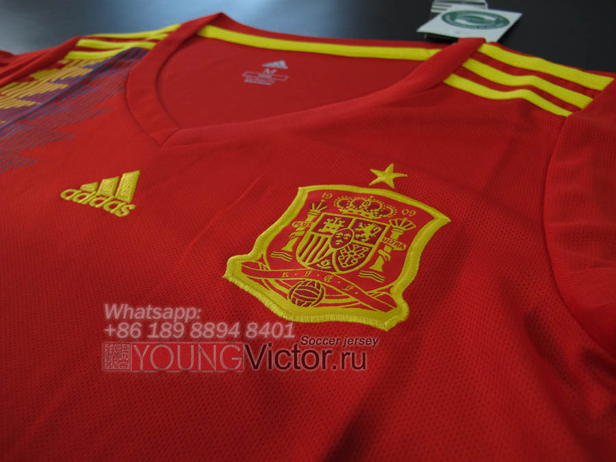 a3e6efd764ea7 2018 World Cup Spain 17 18 Home Women's Soccer jersey - $15.00 ...