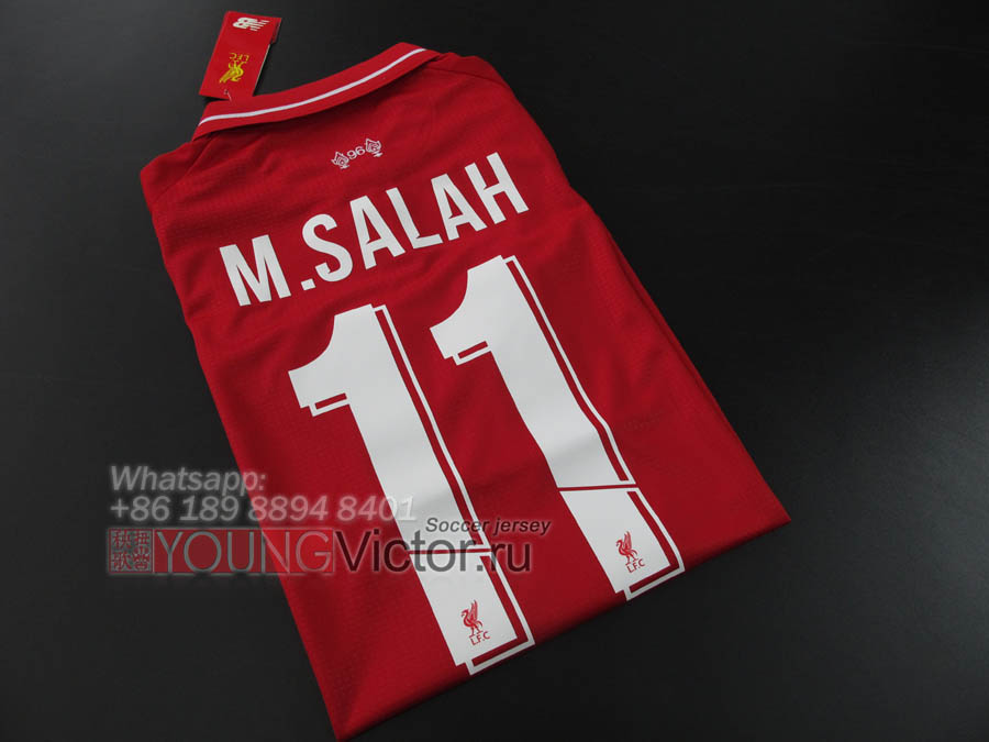 78505a9b 18/19 Liverpool 2018 Home M.SALAH 11 Champions league Soccer jersey ...