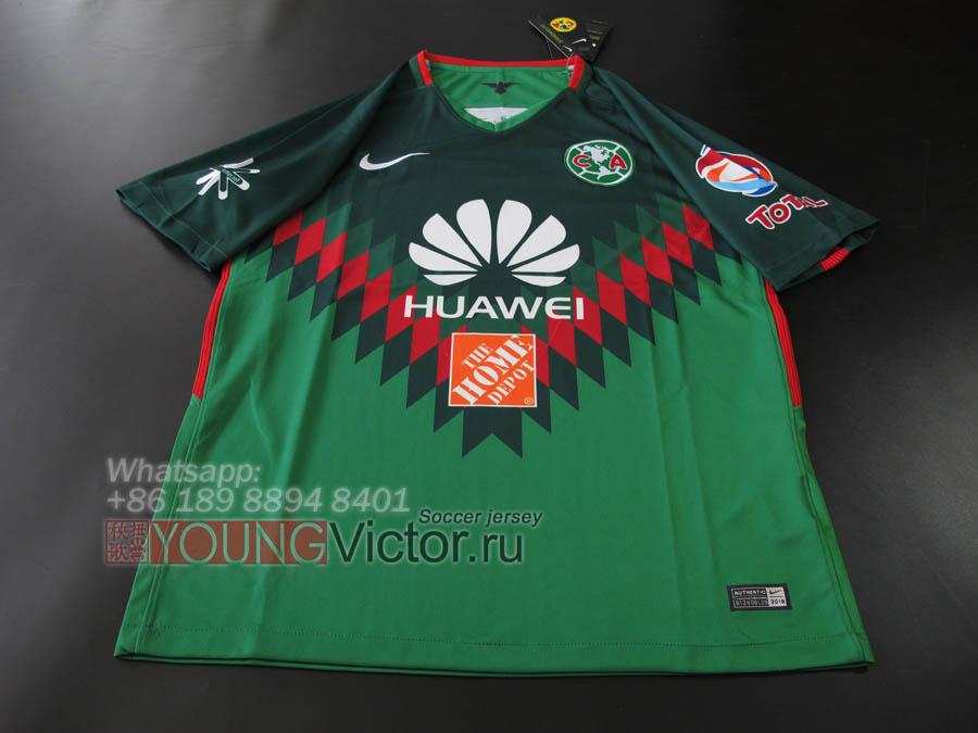 18 19 Club America 2018 Away third Soccer jersey green -  17.00 ... a838688f5