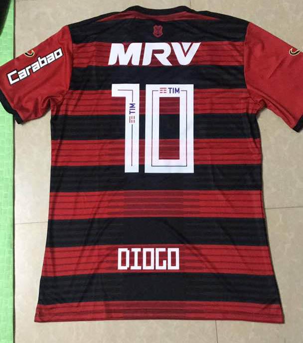 b98beaa6e 18 19 CR Flamengo 2018 Home Soccer jersey +CAIXA + all advertising ...