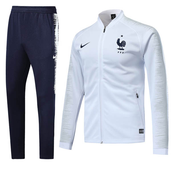e5453ee79c9 2018 World Cup France Soccer Training suit Jacket + Pants white ...