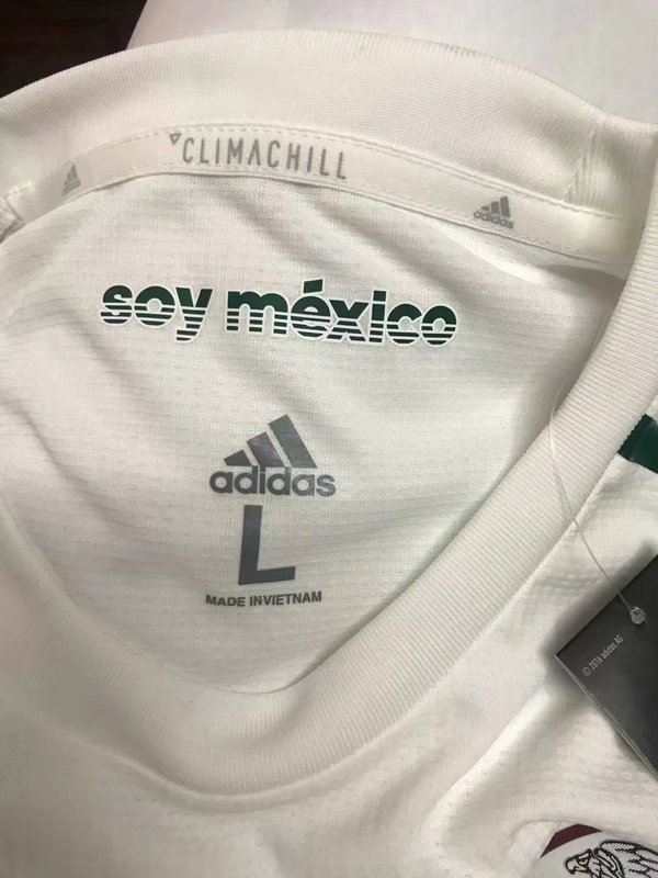 289367d0e7d 2018 World Cup Mexico 1819 Away Long sleeve Player version Soccer jersey