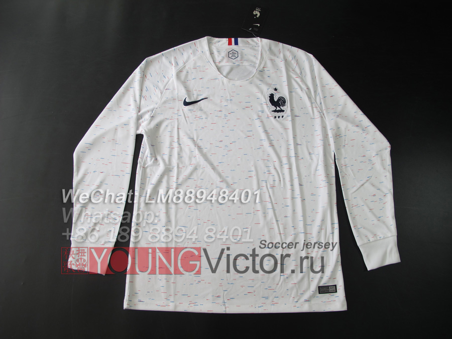 32fdf7d80 2018 World Cup France 18 19 away Long sleeve Soccer jersey -  19.00 ...