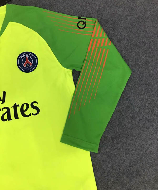 d557e4235e8 18 19 Paris Saint Germain PSG Goalkeeper Long sleeve Soccer jersey ...
