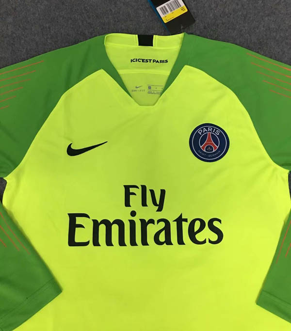 de3067102dd 18 19 Paris Saint Germain PSG Goalkeeper Long sleeve Soccer jersey ...