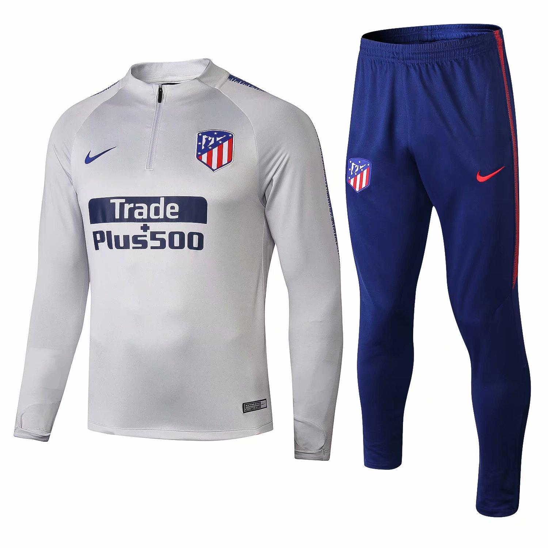 01e071aa1 18 19 Atletico Madrid Soccer Long sleeve Training suit + Pants ...