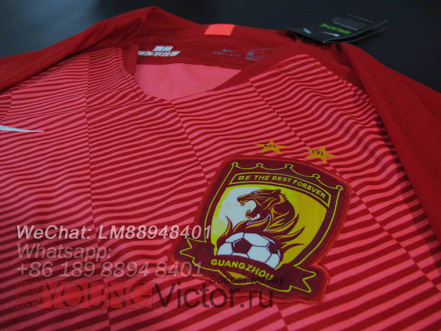 17a989f1c 2019 Guangzhou Evergrande Chinese Super League Soccer jersey ...